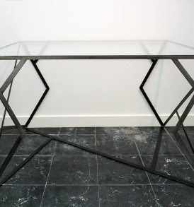 Table bureau metal verre Antoine Thos