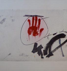 Antoni Tàpies lithographie 1975