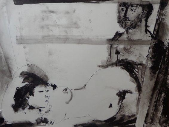 Roger Somville Technique mixte 1965