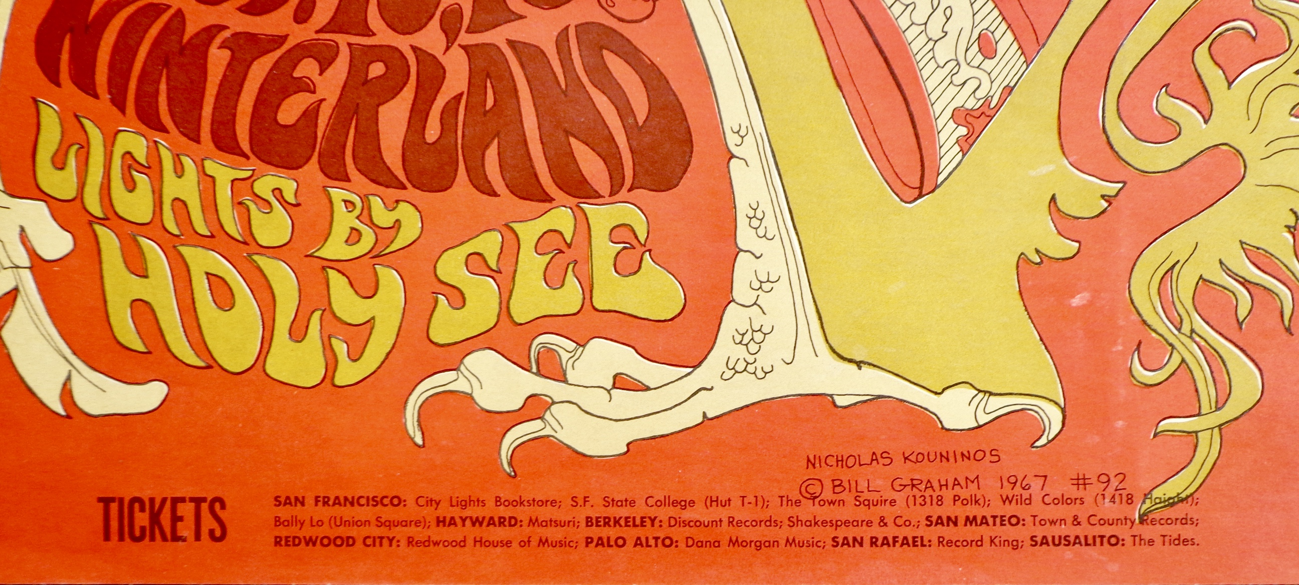 5d076f9a Pink Floyd Procol Harum HP Lovecraft concert poster, Fillmore ...