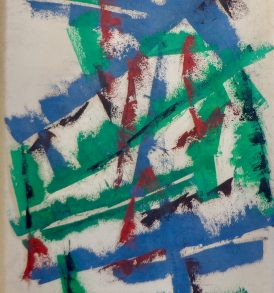 Georges Carrey huile papier 1950