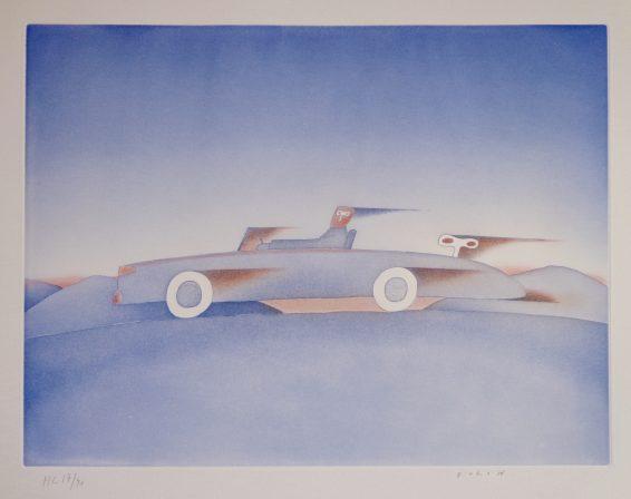 Jean-Michel Folon Aquatinte rehaussée 1990