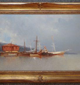 Jean-Baptiste Henri Durand-Brager Bateaux sur le Bosphore 1874