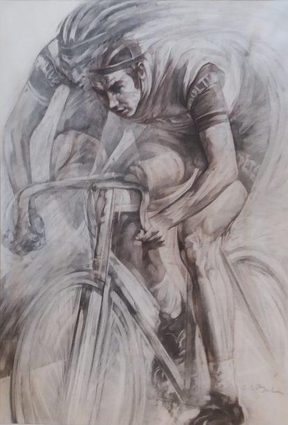 Claude Le Boul Dessin Eddy Merckx 1986