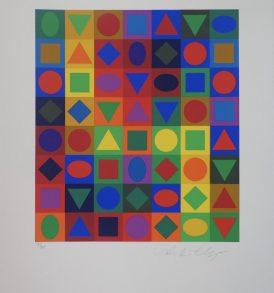 Victor Vasarely Sérigraphie Majus 1973