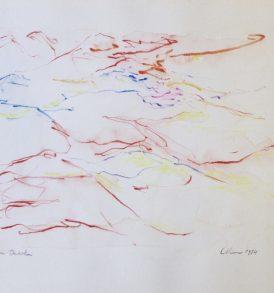 Jacques Calonne Dessin crayons de couleur 2 - 1984