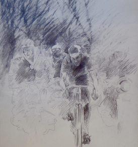 Claude Le Boul Eddy Merckx Dessin 1986