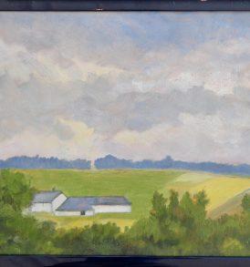 15. Angèle Decoster Peinture Paysage 1980