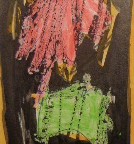 Merv Slotnick 15. Peinture Pastel papier 1975