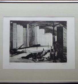 Louis Collet Le chantier Gravure 1955