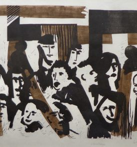 Louis Collet Vernissage Lithographie 1962