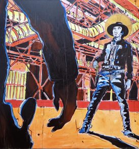 Andrea Clanetti Cowboys Beaubourg Painting 2013