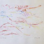 Jacques Calonne dessin aux crayons de couleur 1984