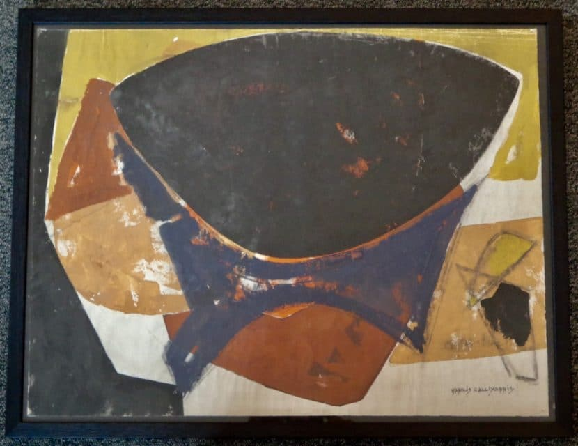 Manolis Calliyannis Peinture Gouache (2) 1950